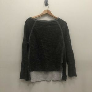 Lou & Grey size Large Grey Long sleeve High Low